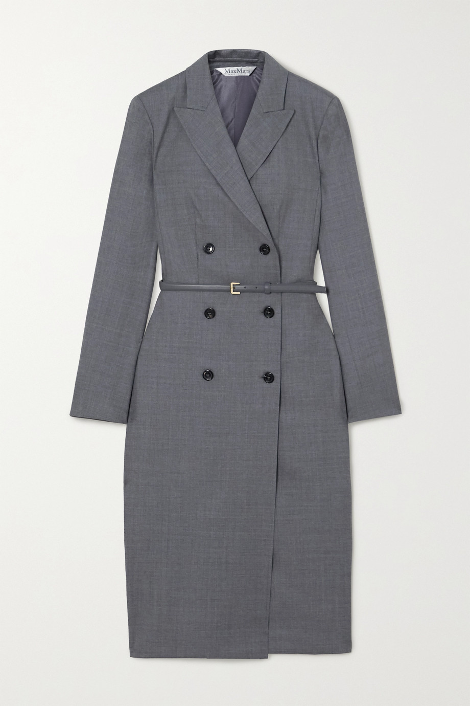 Max Mara Belted wool-blend dress