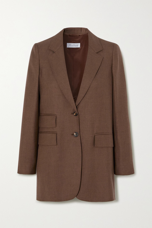 Max Mara Pagoda camel hair and silk-blend blazer