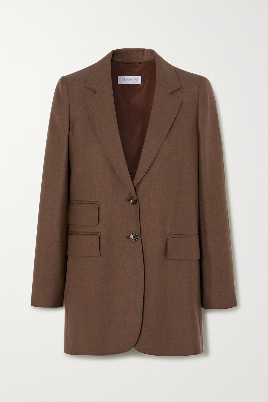 Max Mara Pagoda camel hair and silk-blend blazer
