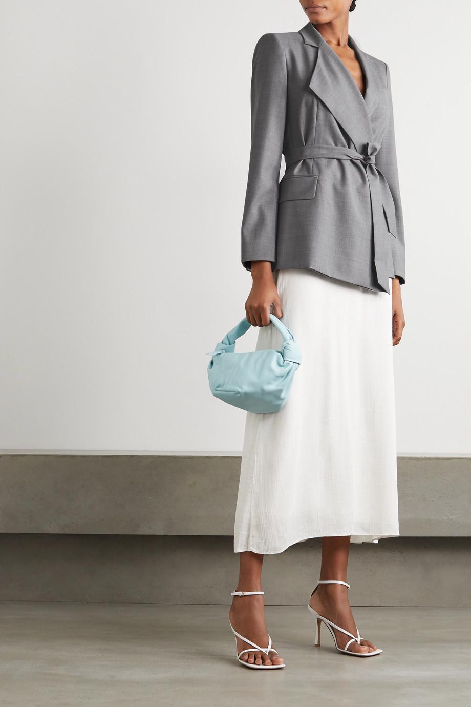 Max Mara Belluno asymmetrischer Blazer aus Wolle mit Bindegürtel