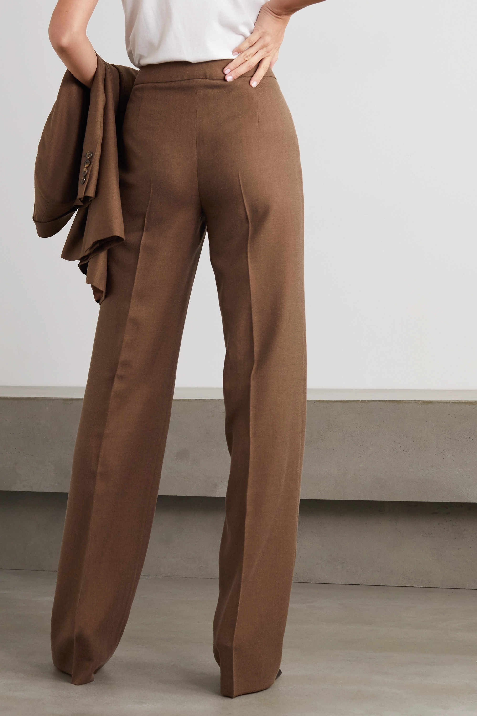 Max Mara Bea Hose mit geradem Bein aus einer Kamelhaar-Seidenmischung