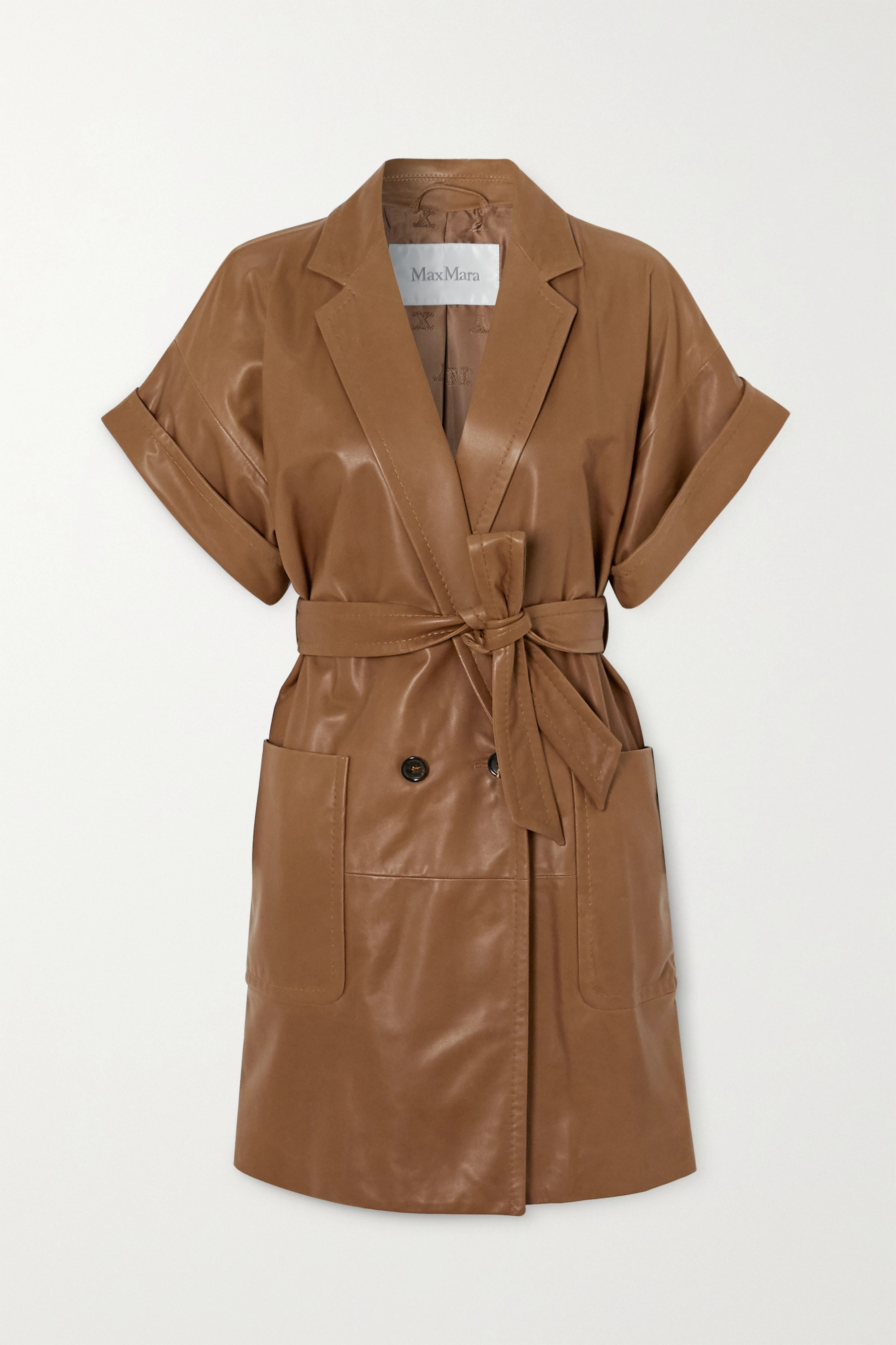 Max Mara Belted leather jacket