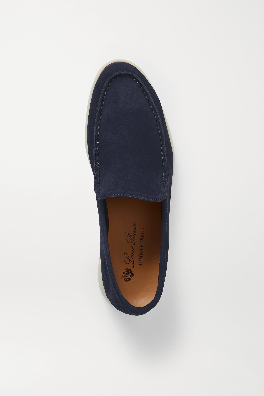 Loro Piana Summer Walk Loafers aus Veloursleder