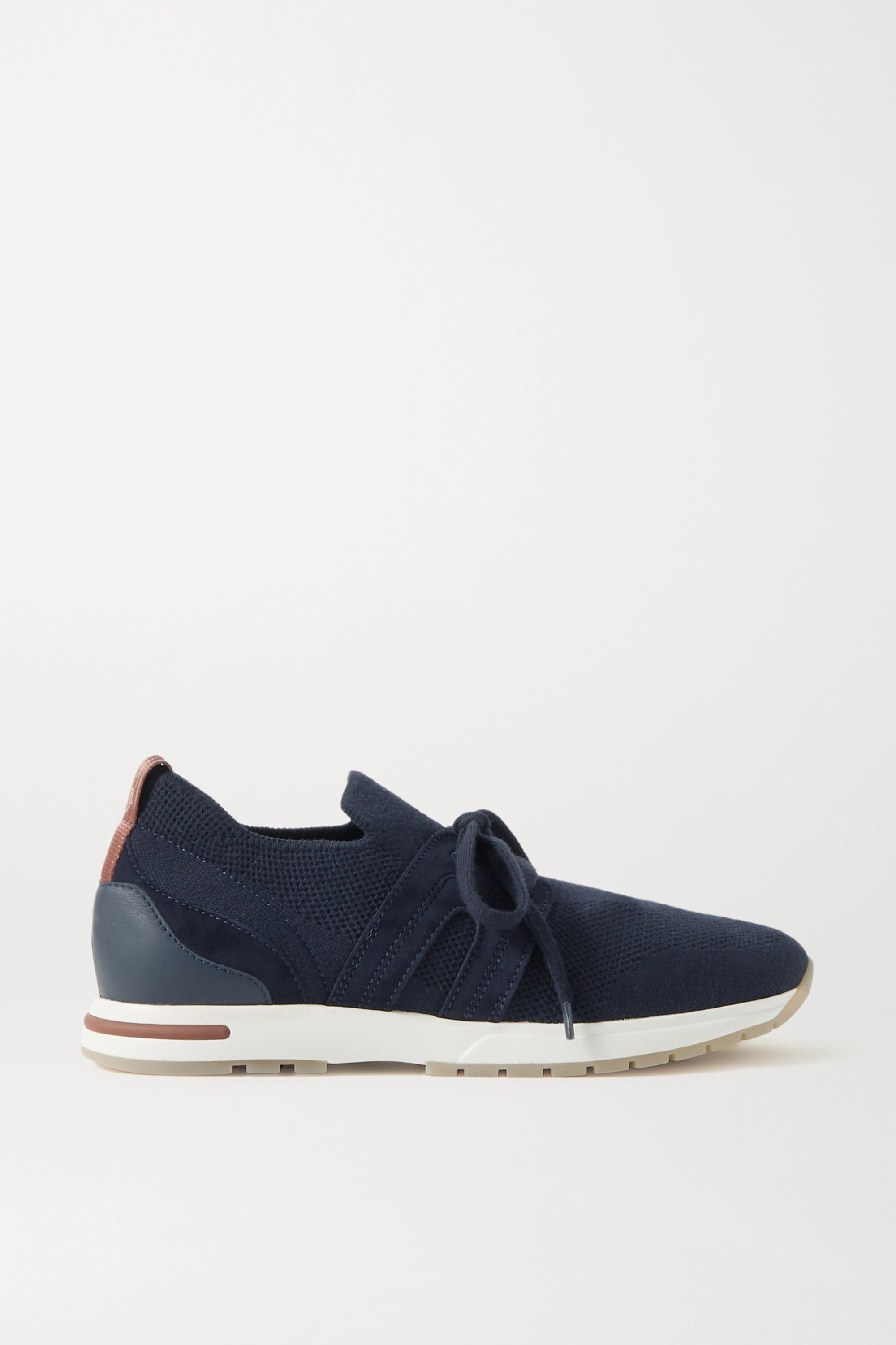 Loro Piana Flexy Lady wool, leather and suede sneakers