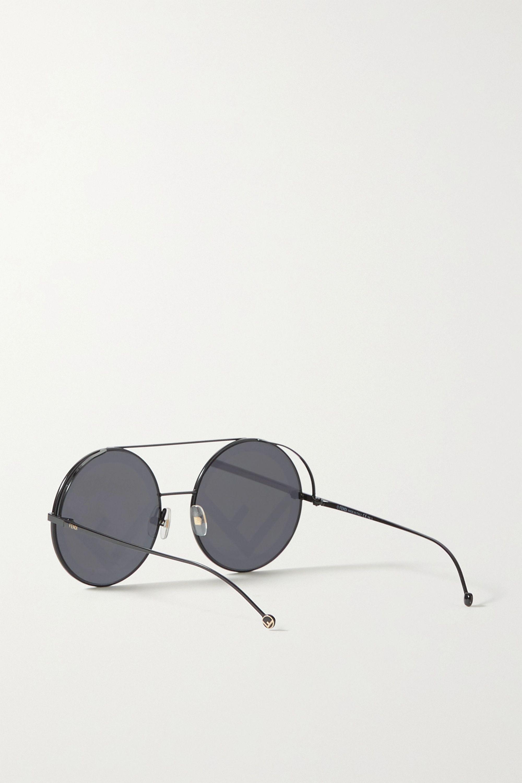 Fendi Round-frame metal sunglasses