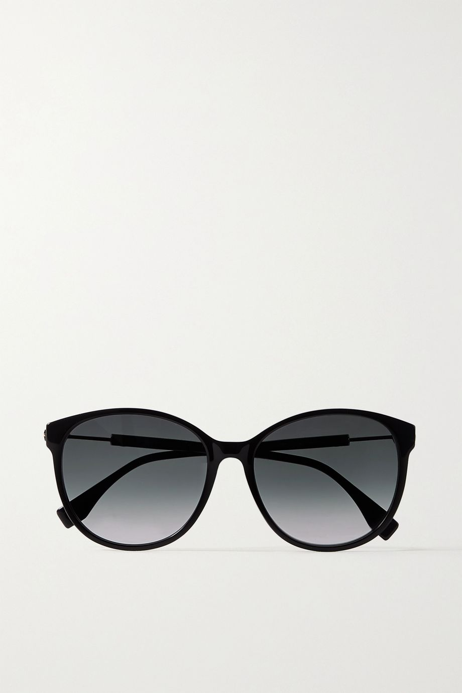 Fendi Round-frame acetate and gold-tone sunglasses