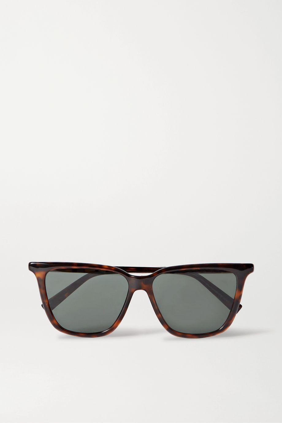 Givenchy Sonnenbrille mit eckigem Rahmen aus Azetat in Hornoptik