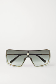 Givenchy Oversized D-frame gold-tone and acetate sunglasses