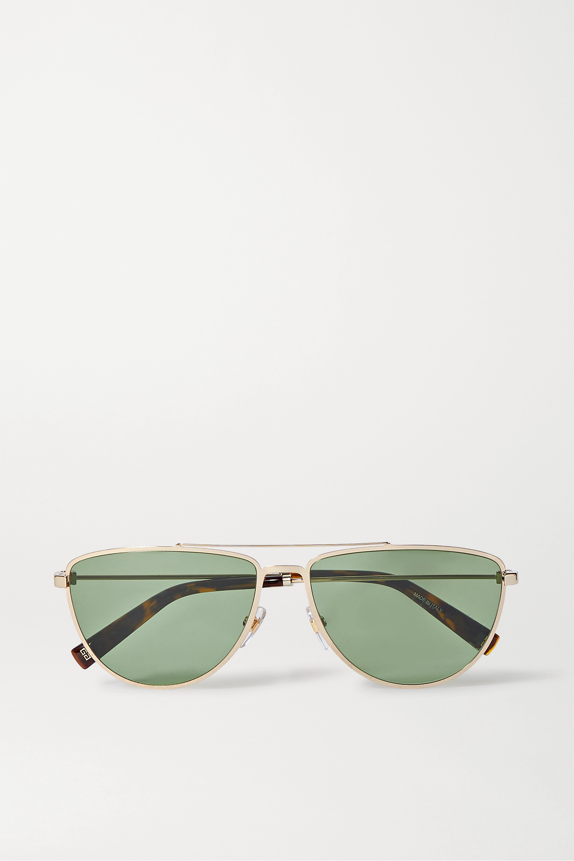 Givenchy Aviator-style gold-tone and tortoiseshell acetate sunglasses
