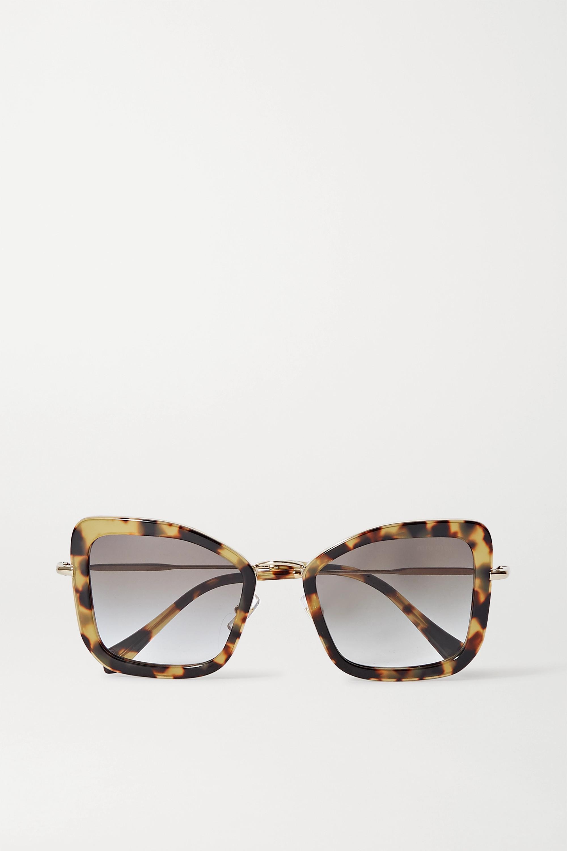 Miu Miu Eyewear Oversized cat-eye tortoiseshell acetate and gold-tone sunglasses