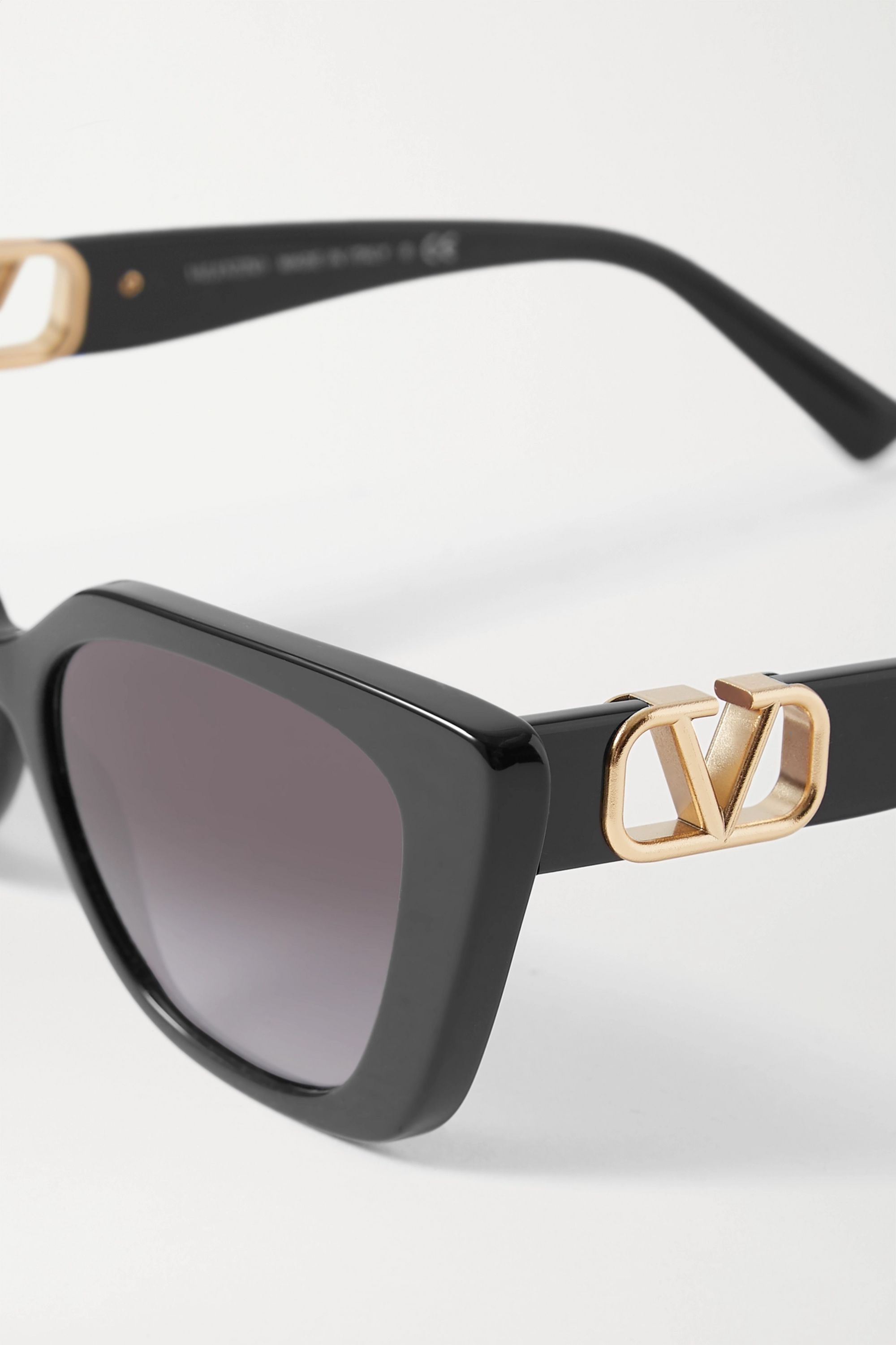 Valentino Valentino Garavani cat-eye acetate and gold-tone sunglasses