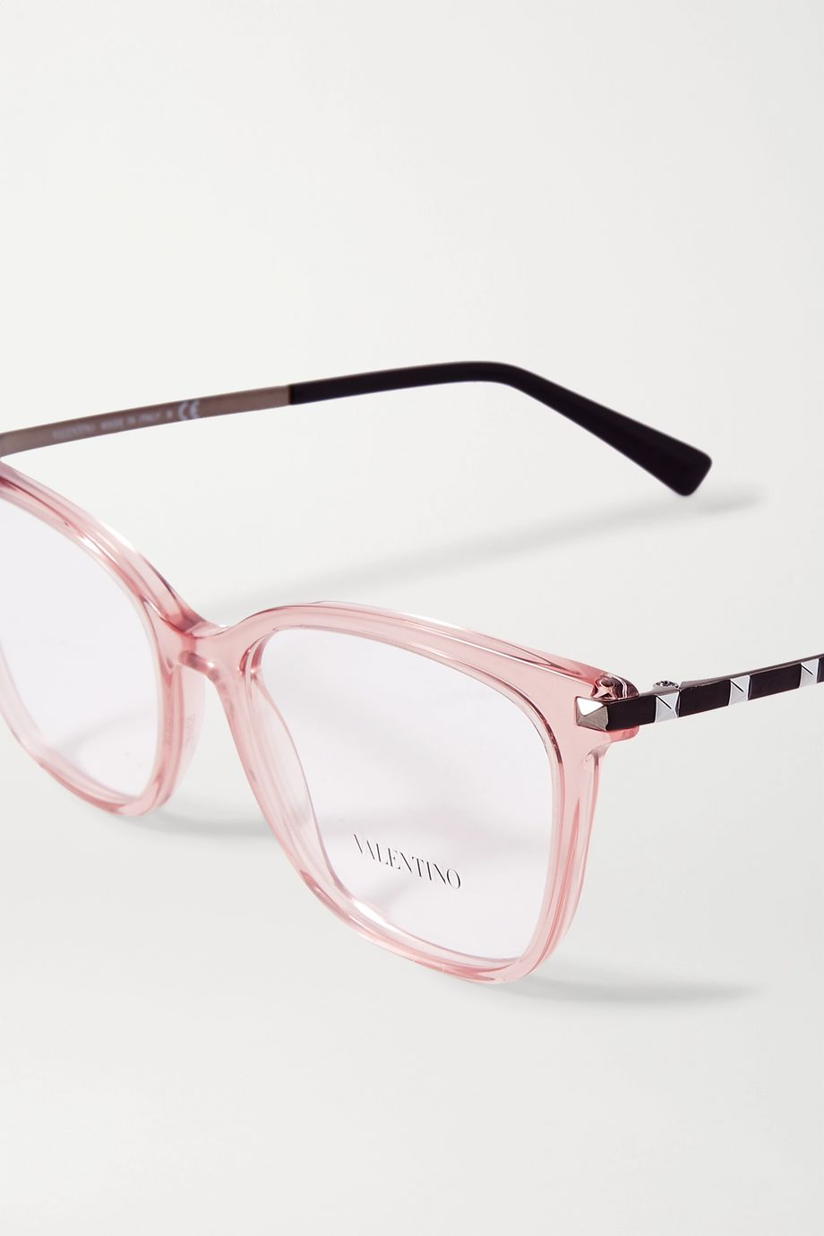 Valentino Valentino Garavani Rockstud square-frame acetate optical glasses