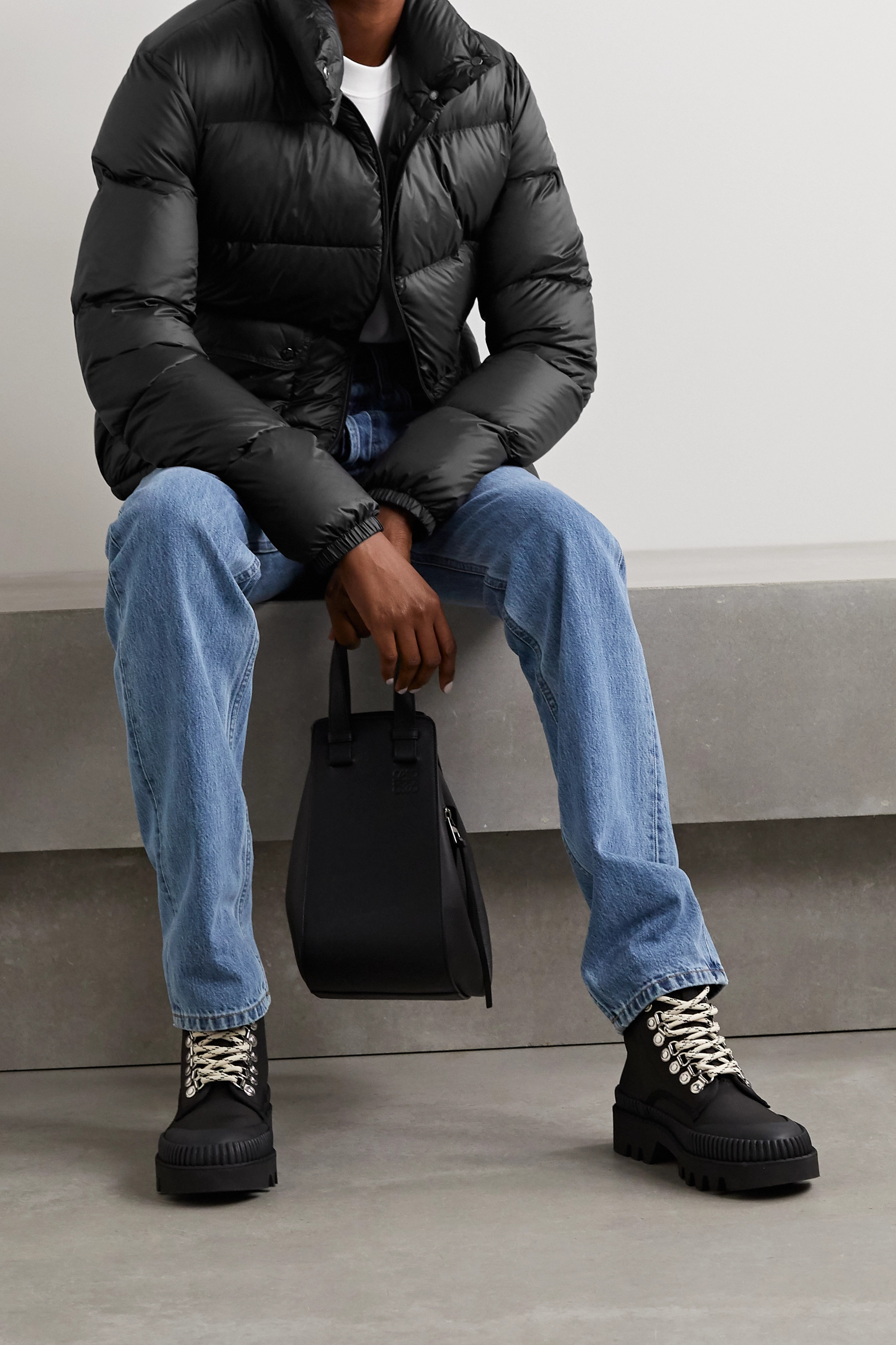 Moncler Lannic quilted shell down jacket