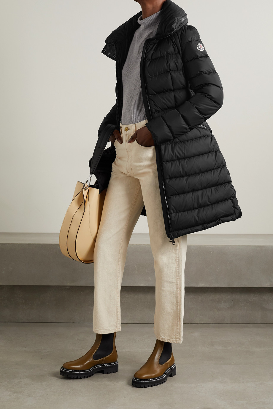 Moncler Flammette hooded quilted shell coat