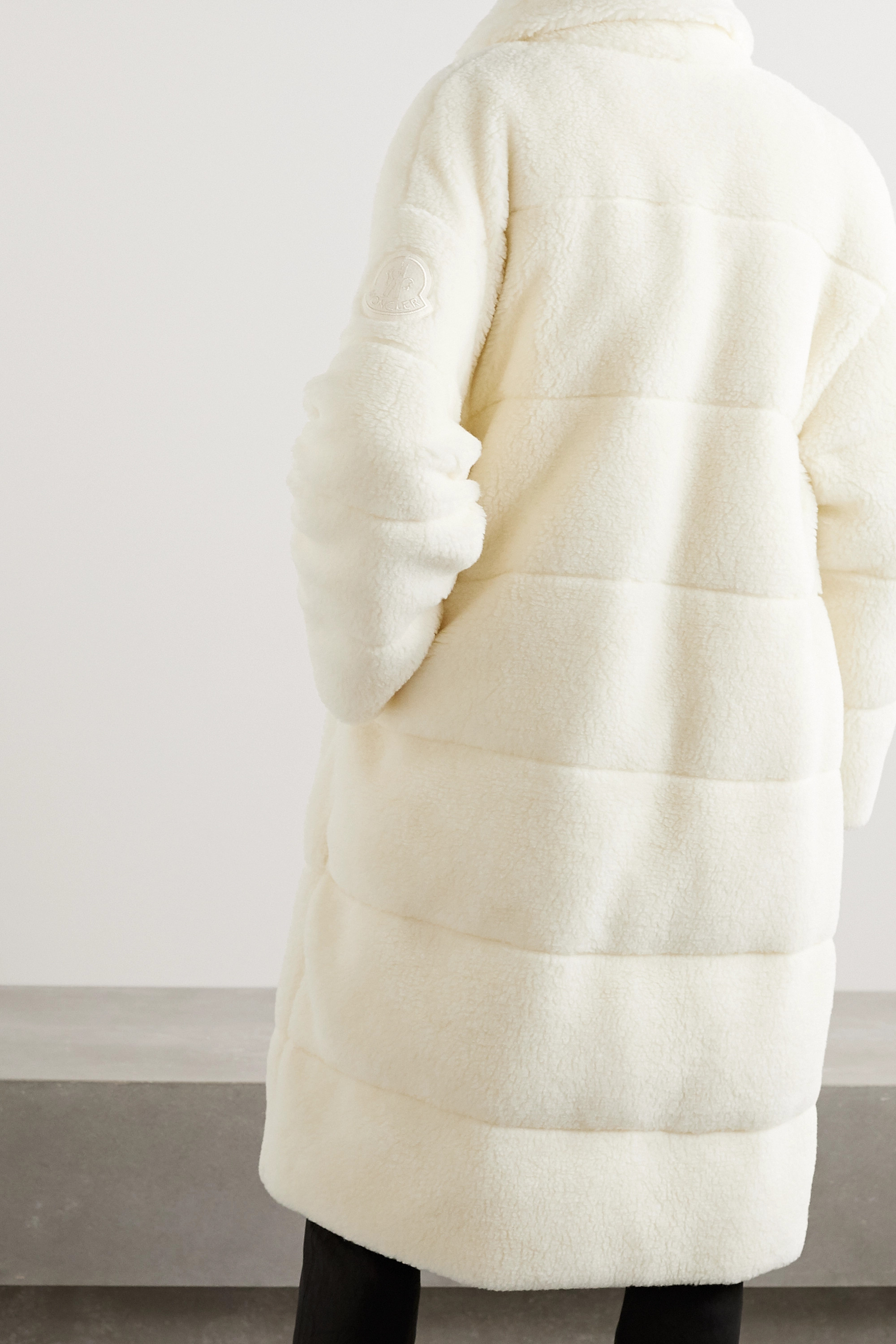 Moncler Bagaud reversible quilted faux shearling and shell down coat