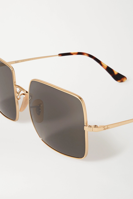 Ray-Ban 1971 Evolve square-frame gold-tone and tortoiseshell acetate sunglasses