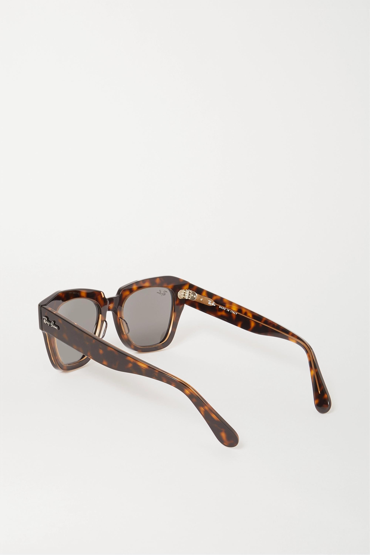 Ray-Ban Wayfarer square-frame tortoiseshell acetate sunglasses