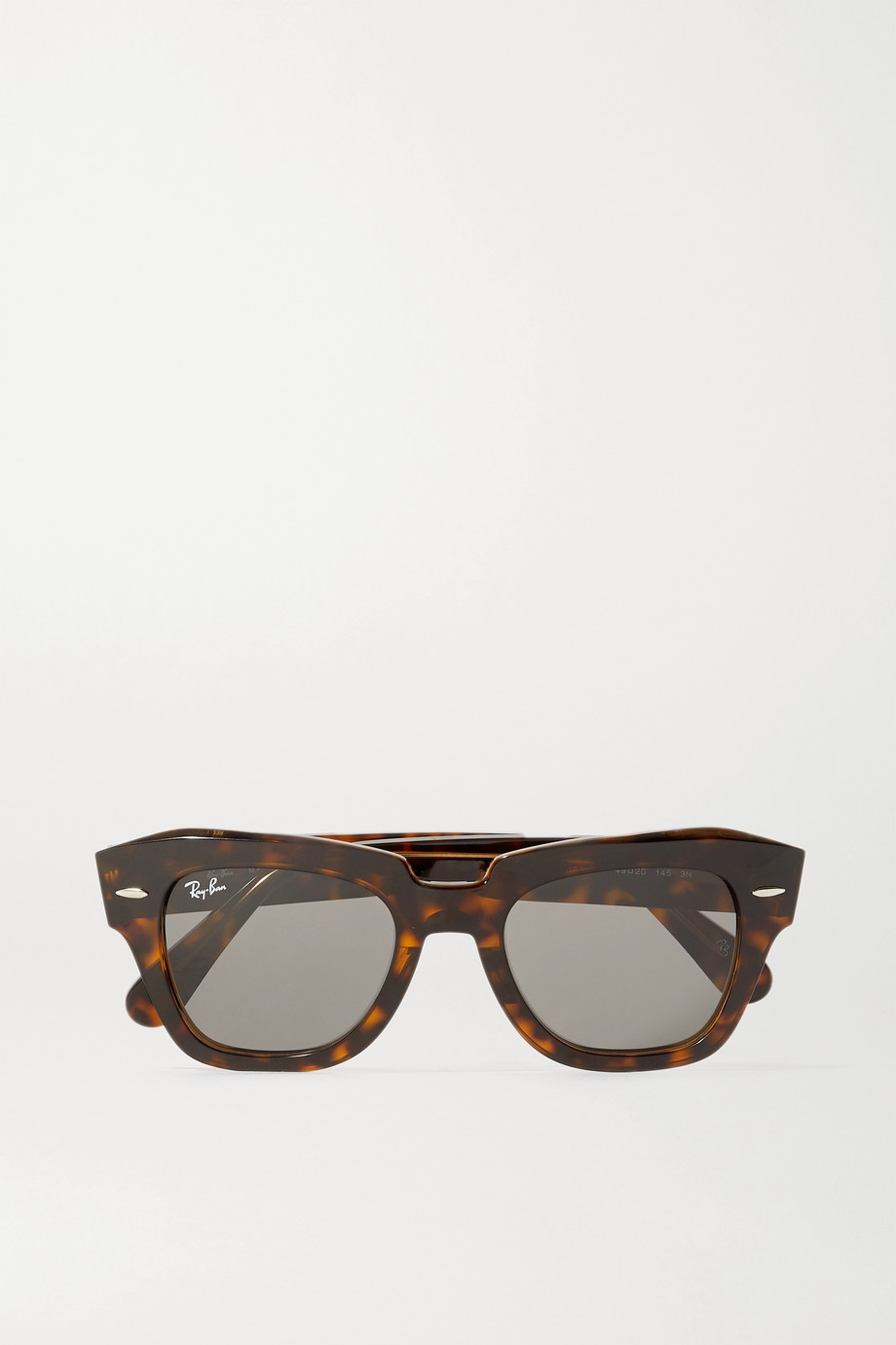 Ray-Ban Wayfarer Sonnenbrille mit eckigem Rahmen aus Azetat in Hornoptik