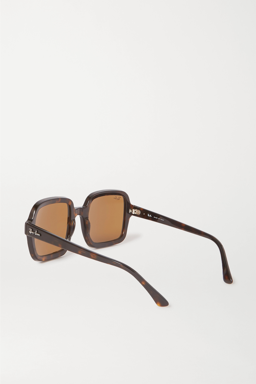 Ray-Ban Oversized square-frame tortoiseshell acetate sunglasses