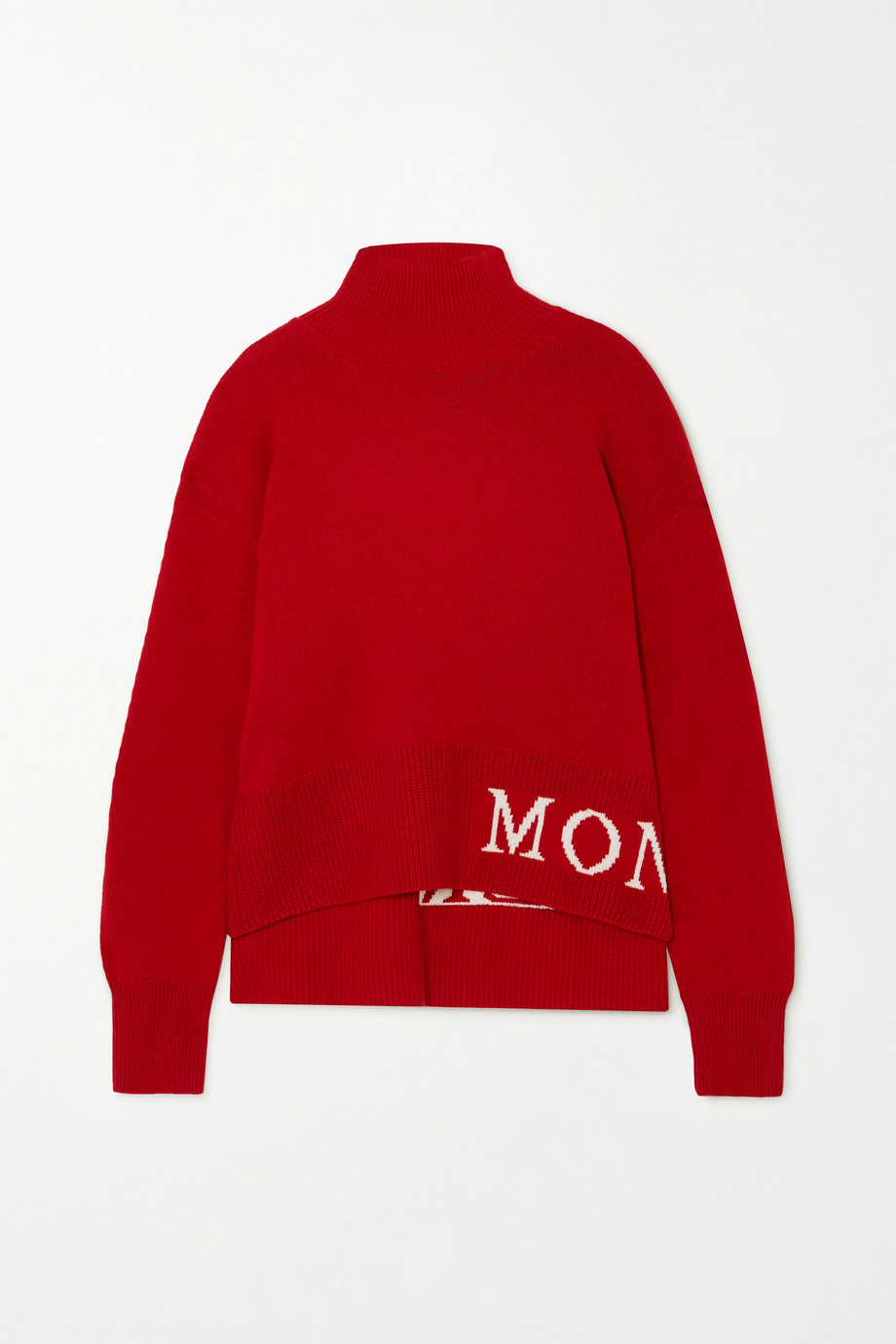 Moncler Intarsia wool and cashmere-blend turtleneck sweater