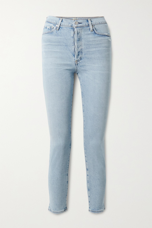 Citizens Of Humanity Olivia High-rise Slim-leg Jeans In Light Denim
