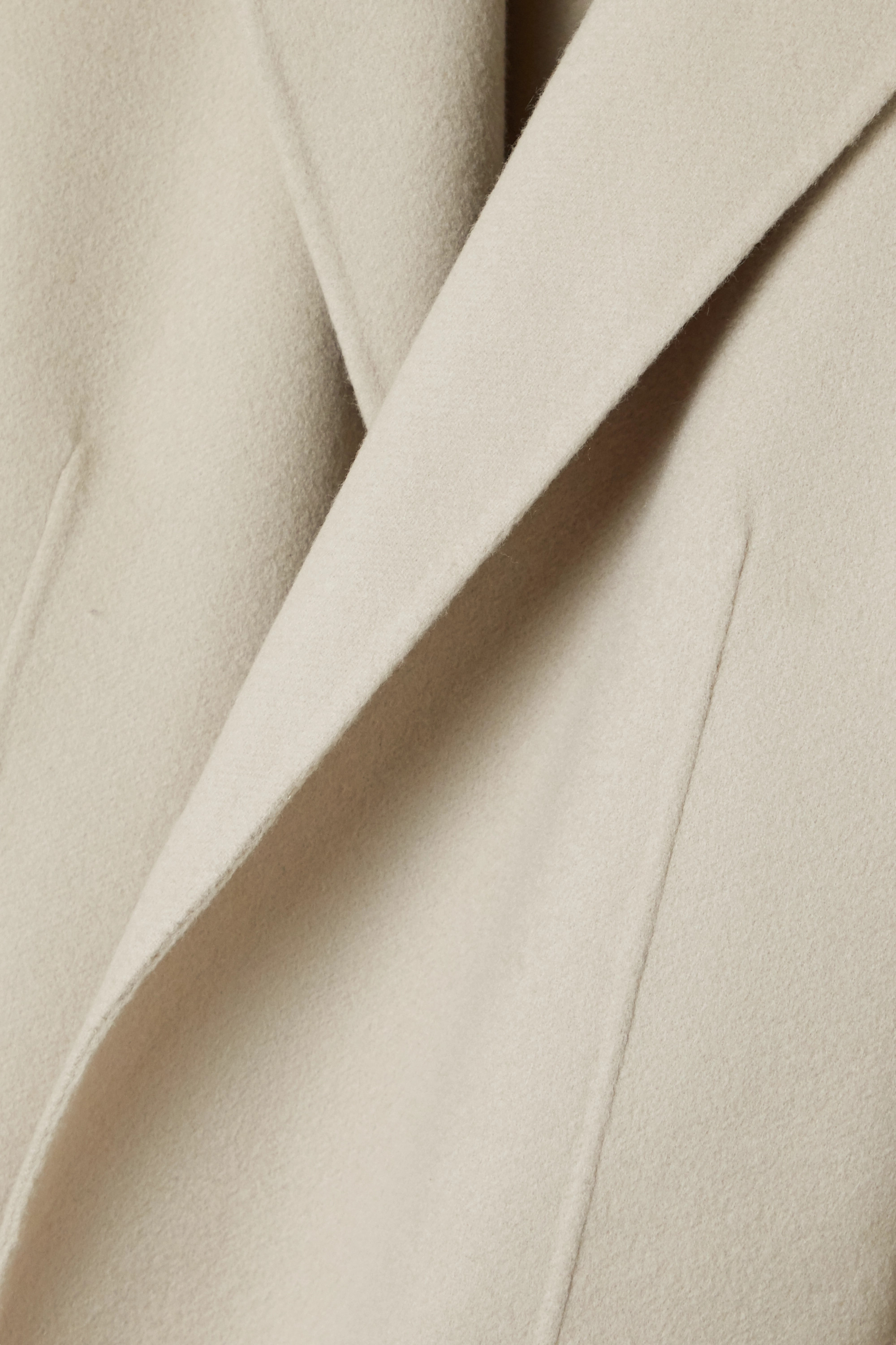 Beige New Divide Belted Wool And Cashmere-blend Coat   Theory