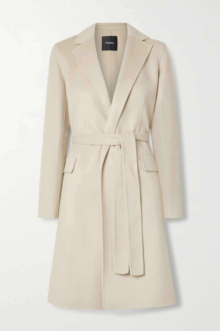 Theory New Divide belted wool and cashmere-blend coat