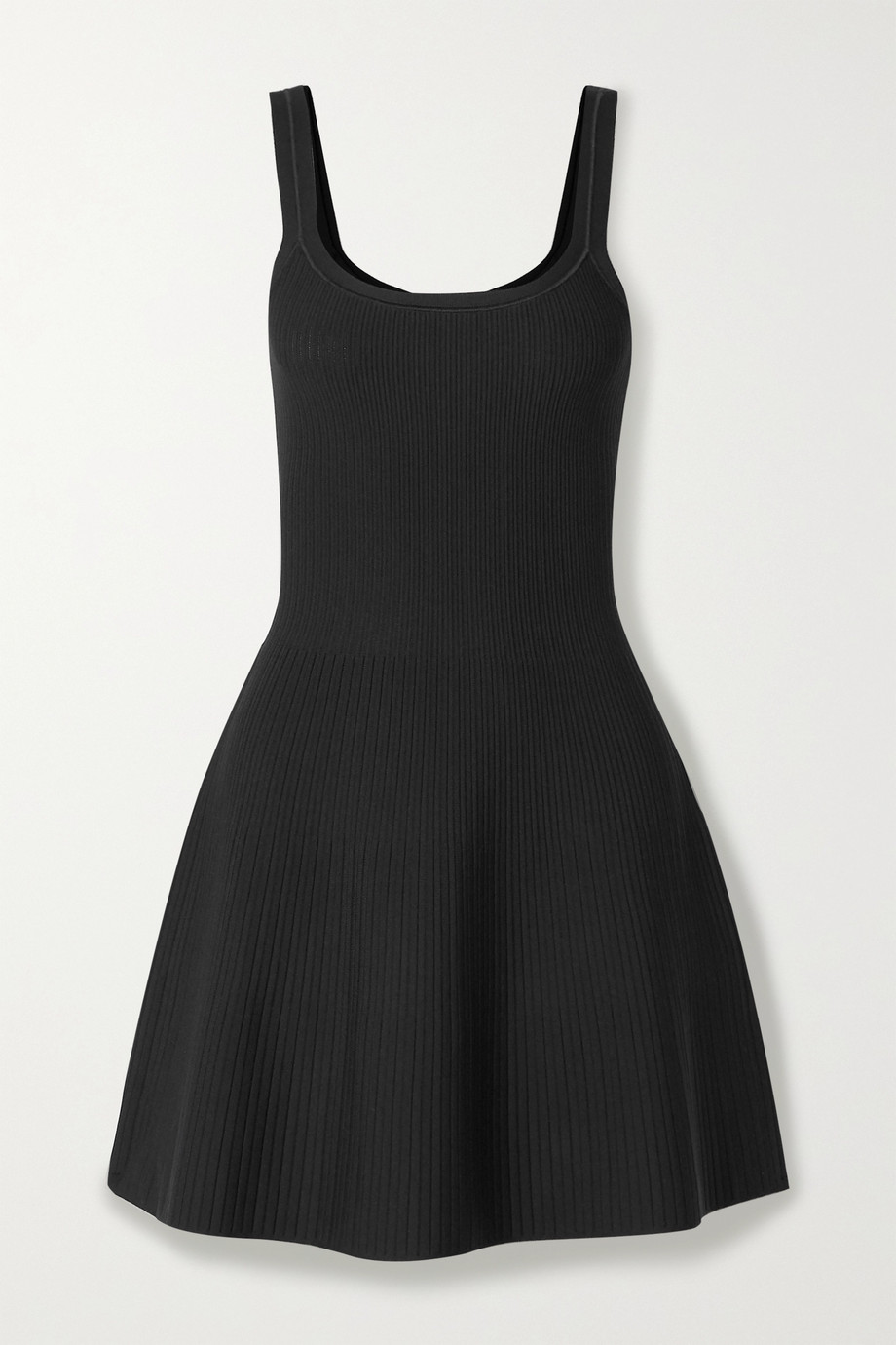 Theory Ribbed stretch-knit mini dress