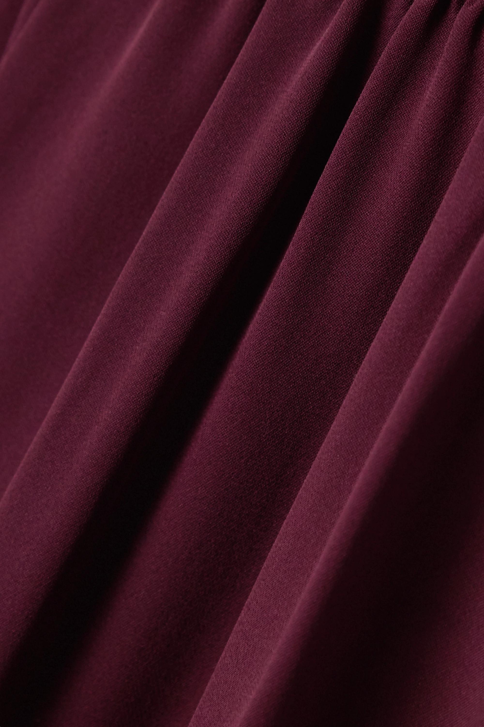 Theory Silk crepe de chine wide-leg pants