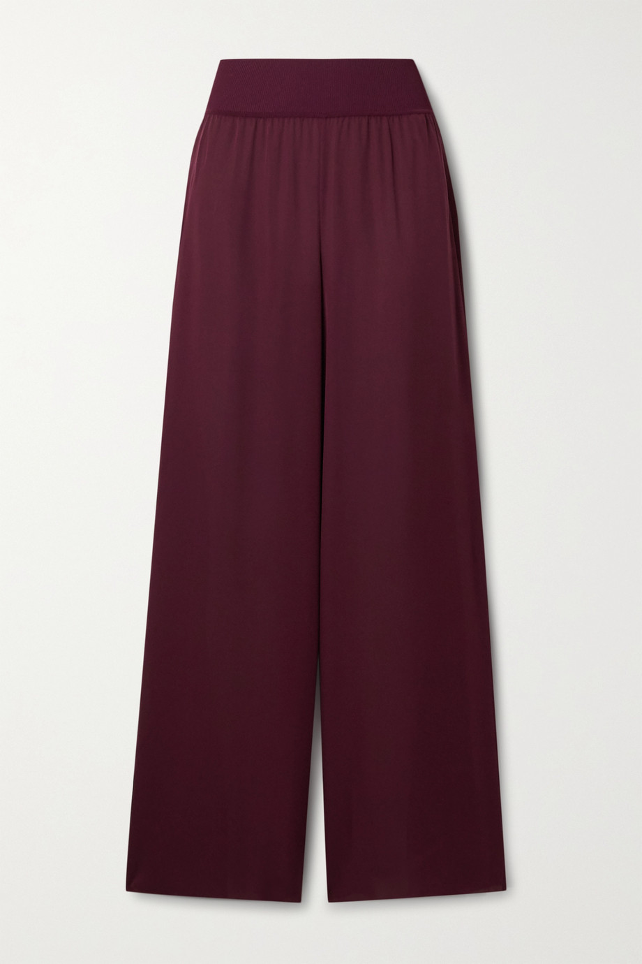 Theory Silk crepe de chine wide-leg pants