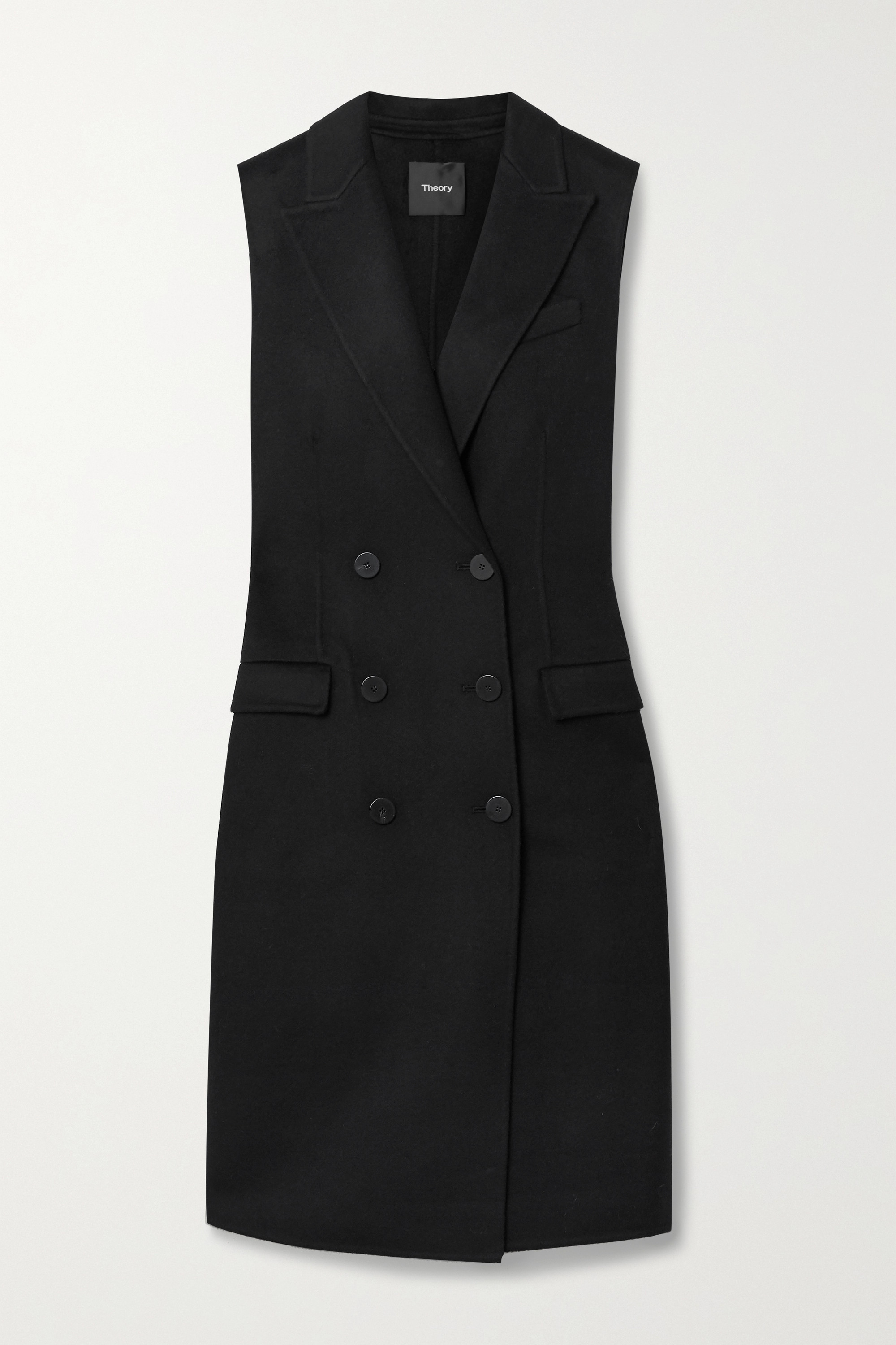 Theory Double-breasted wool and cashmere-blend felt vest