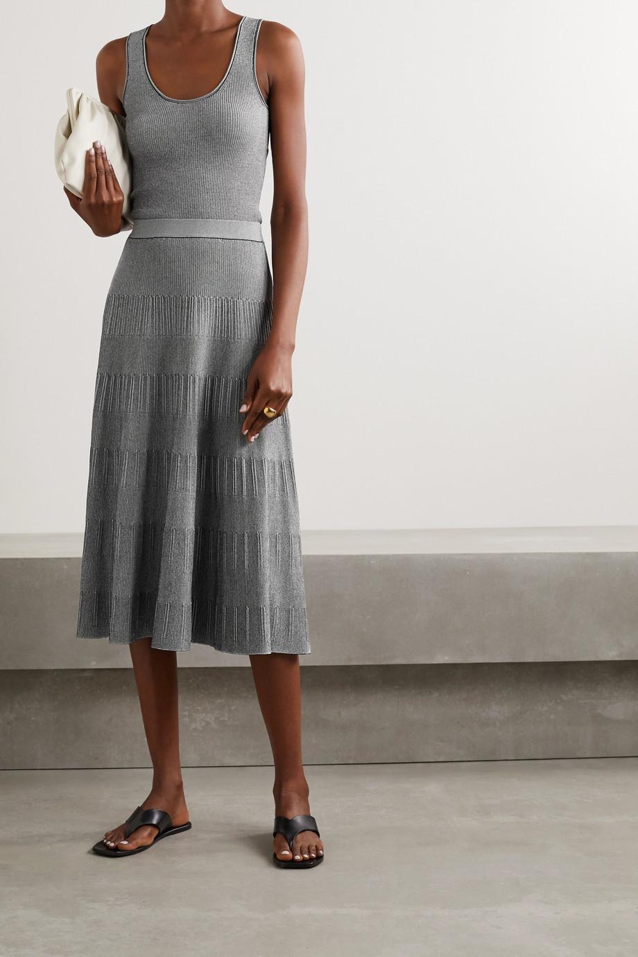 Theory Ribbed-knit midi skirt