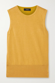 Theory Silk and cotton-blend tank