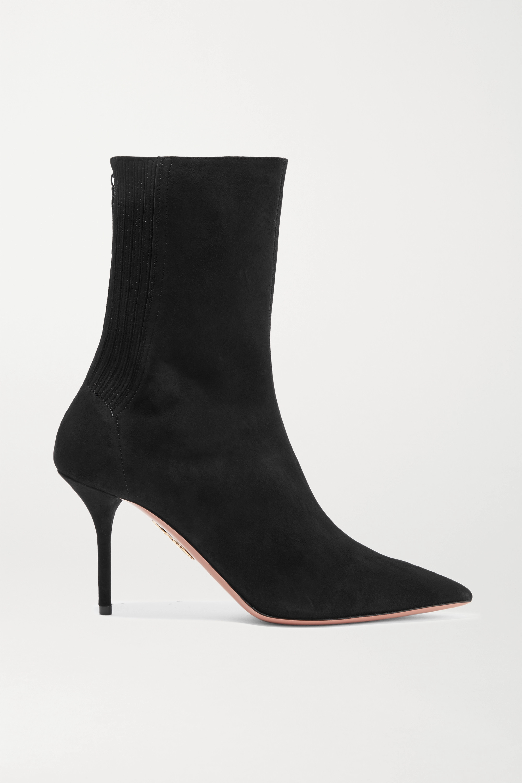 Aquazzura Saint Honore 85 suede sock boots