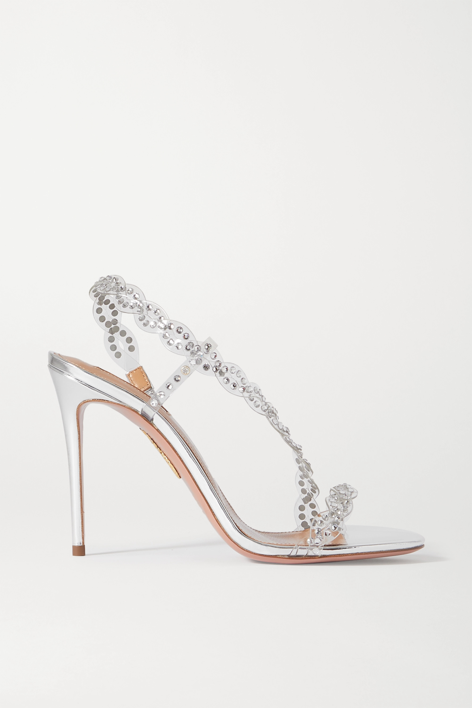 Aquazzura Heaven Sandalen aus PVC mit Kristallen