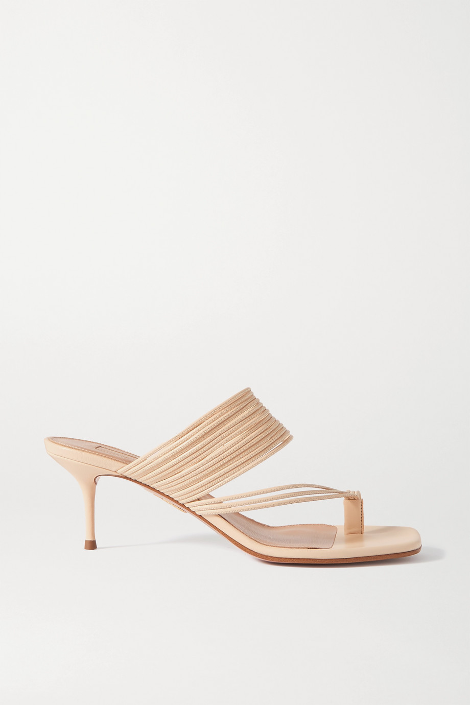 Aquazzura Sunny 60 leather sandals