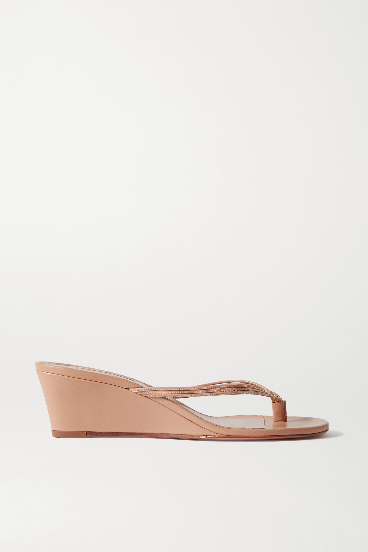 Aquazzura Pedi 45 leather wedge sandals