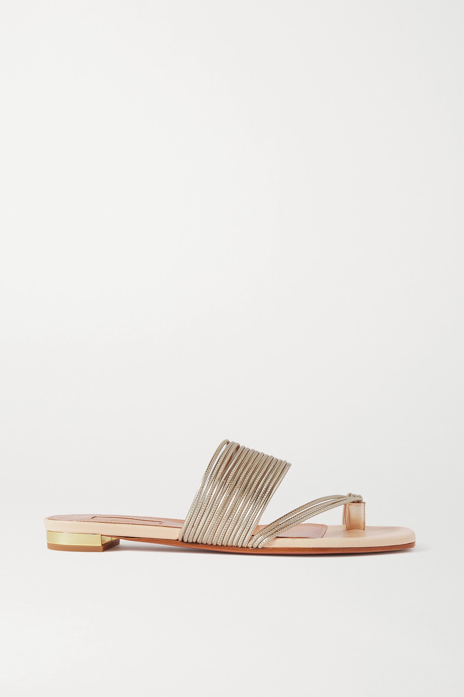 Aquazzura Sunny metallic leather sandals