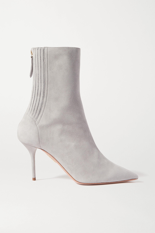 Light gray Saint Honore 85 suede sock