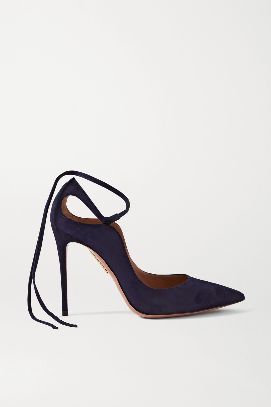 Aquazzura Aria 105 suede pumps