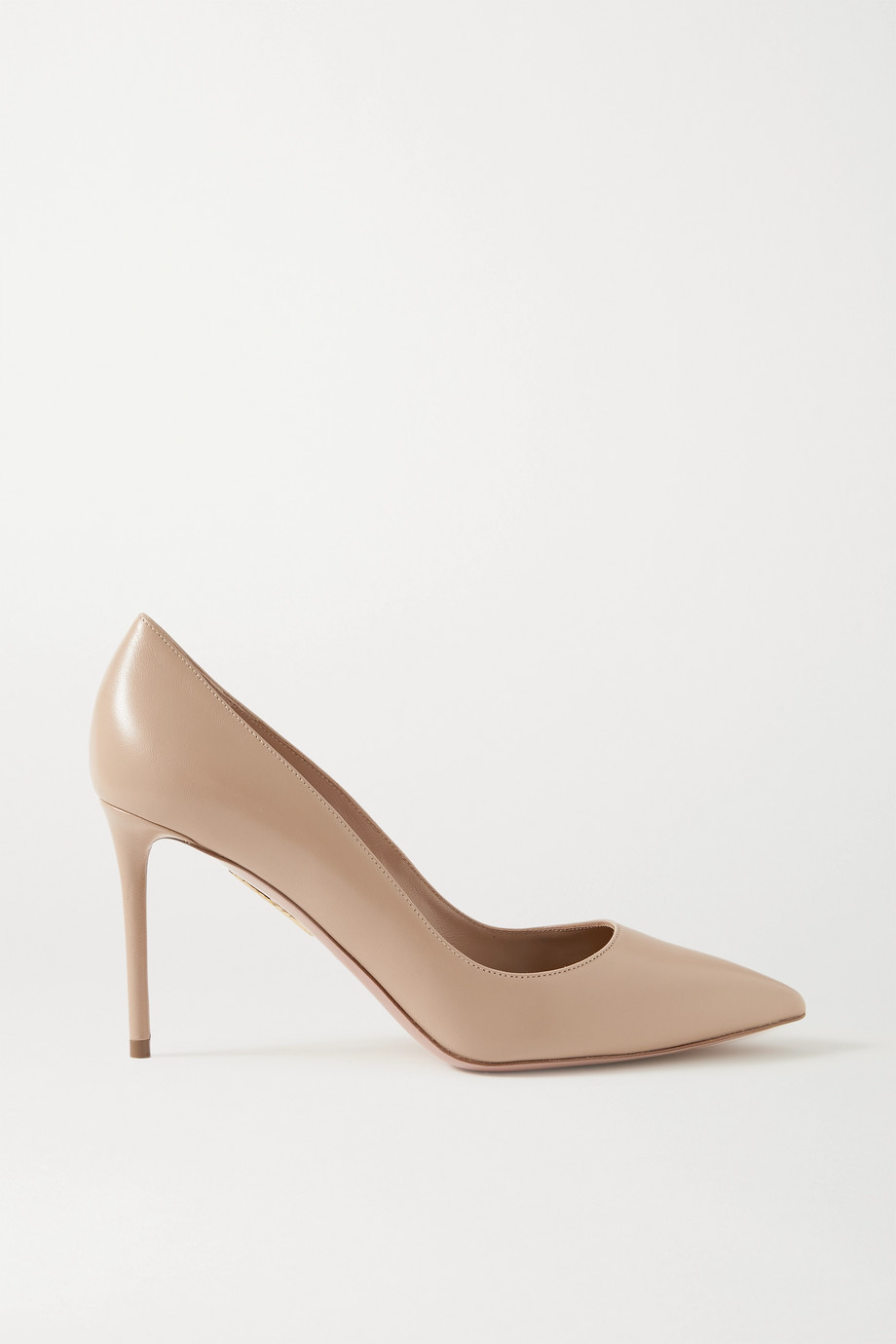 Aquazzura Purist 85 leather pumps