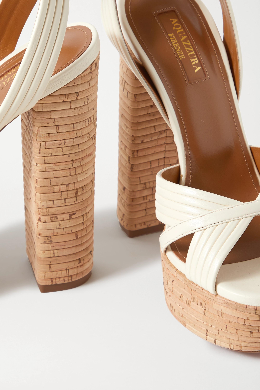 Aquazzura Sundance 140 vegan leather platform sandals