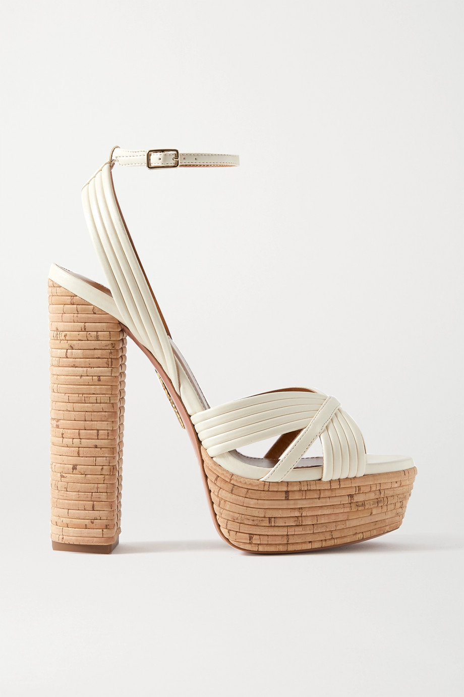 Aquazzura Sundance 140 vegan leather platform sandals