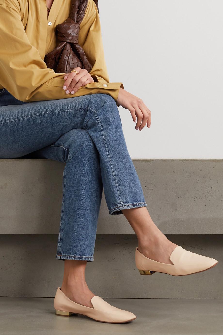 Aquazzura Greenwich 10 leather loafers