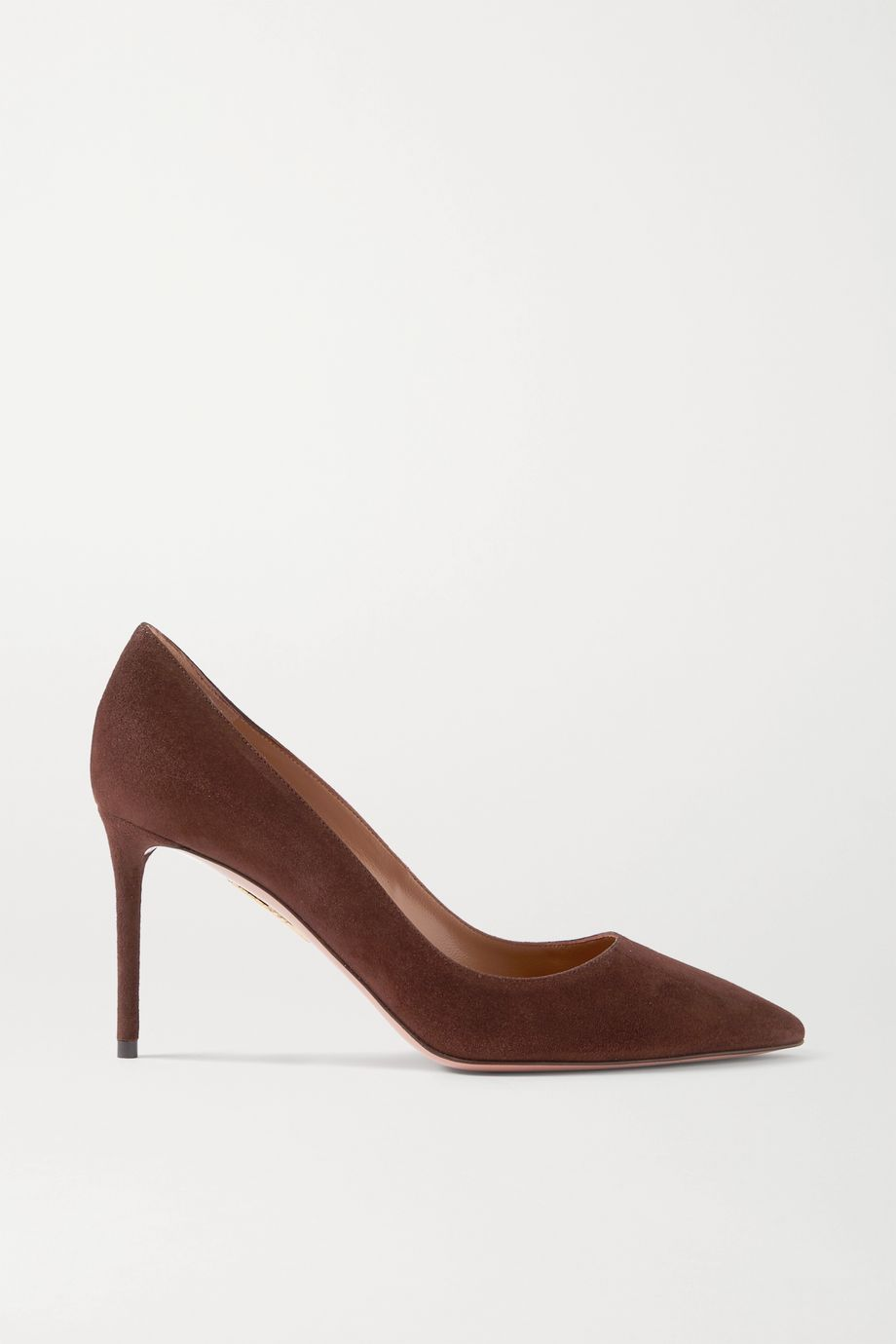 Aquazzura Purist 85 suede pumps