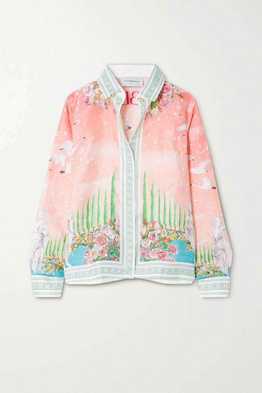 Casablanca Printed silk-twill shirt