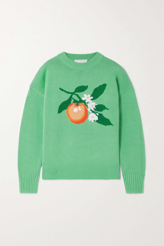 Casablanca Intarsia cotton sweater
