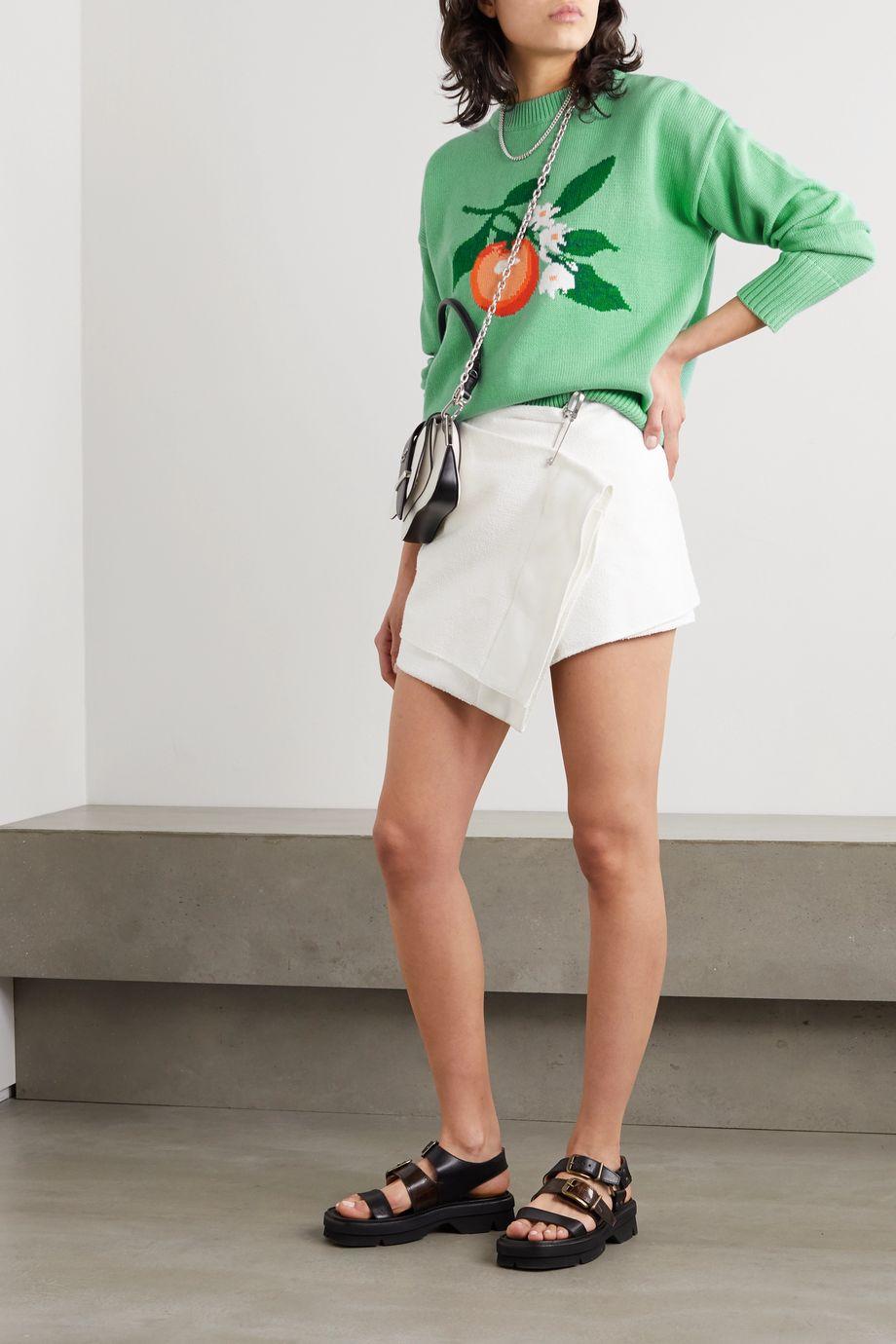 Casablanca Pullover aus Baumwolle mit Intarsienmotiv