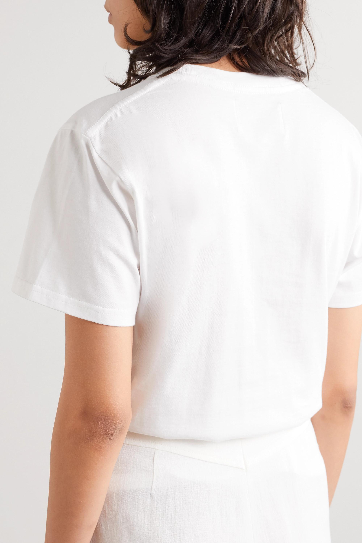 Casablanca Printed cotton-jersey T-shirt