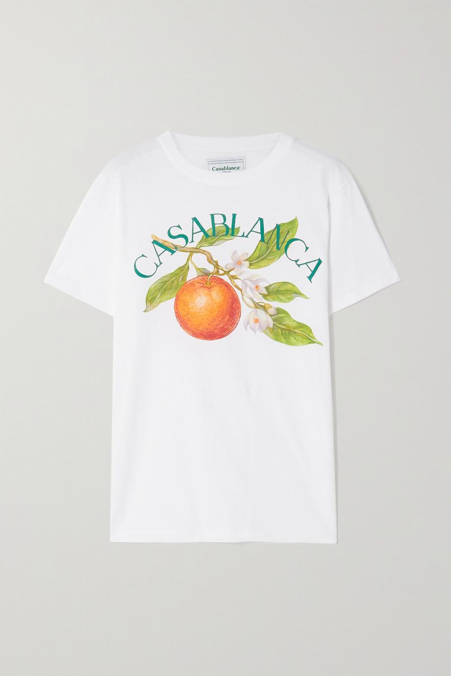 Casablanca T-Shirt aus Baumwoll-Jersey mit Print